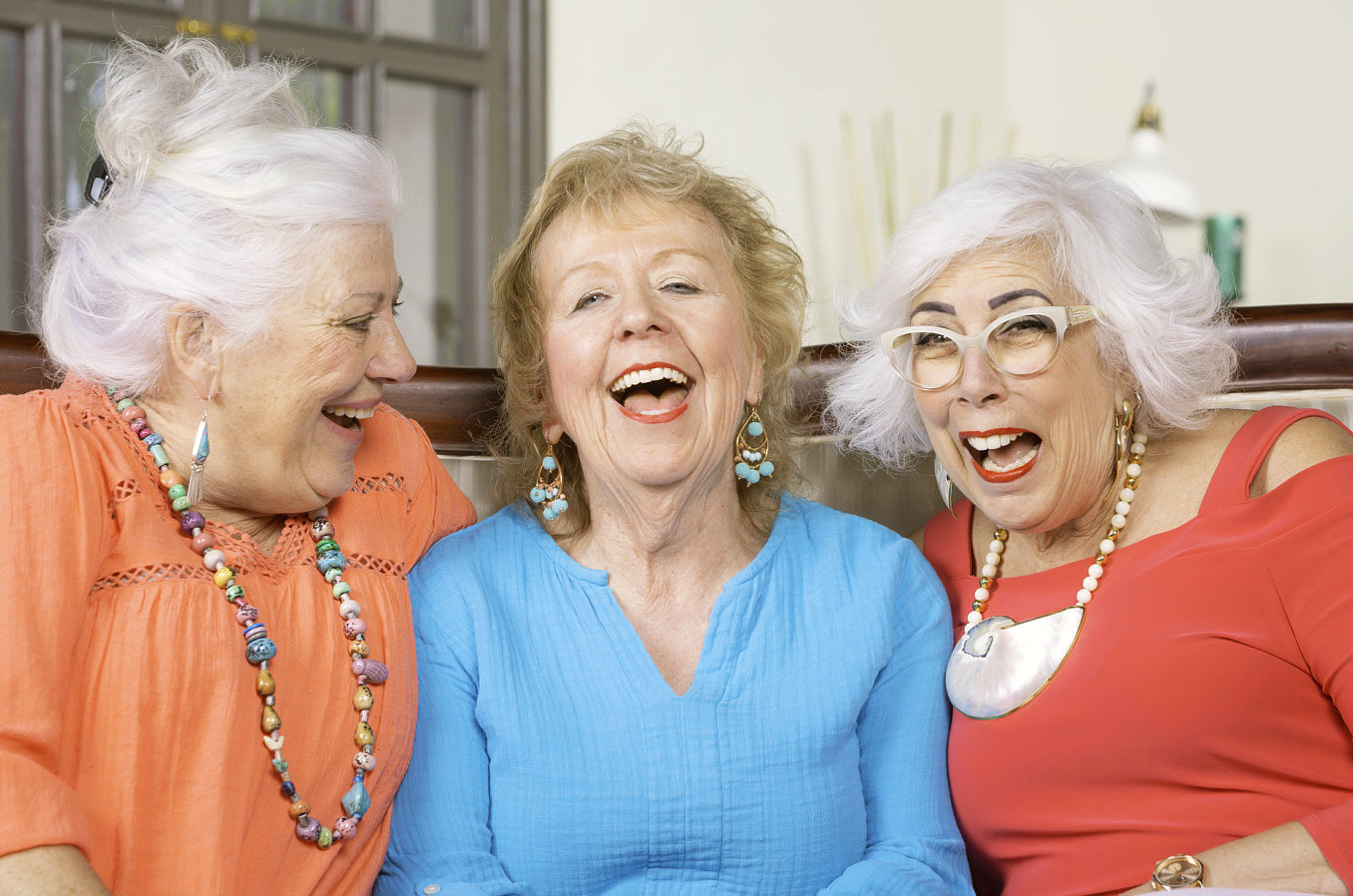 a happy senior women
